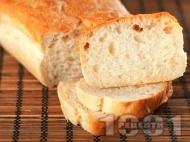 Рецепта Чабата - класически италиански хляб в домашна хлебопекарна (машина за хляб)